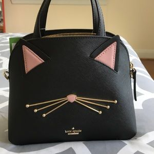 "NWT Kate Spade ""Cat's Meow"" Cat Small Lottie bag"